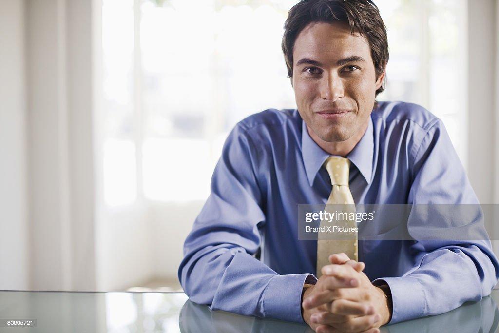 Businessman at desk : Stock Photo
