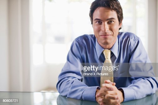 Businessman at desk : Stock Photo