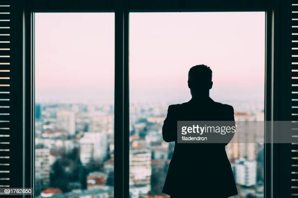 Businessman At The Window