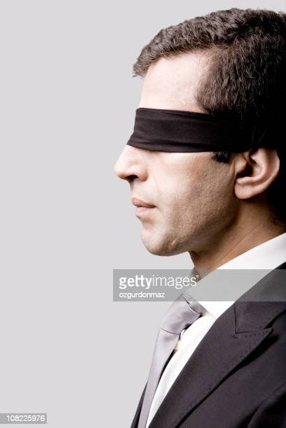 Businessman Blindfolded