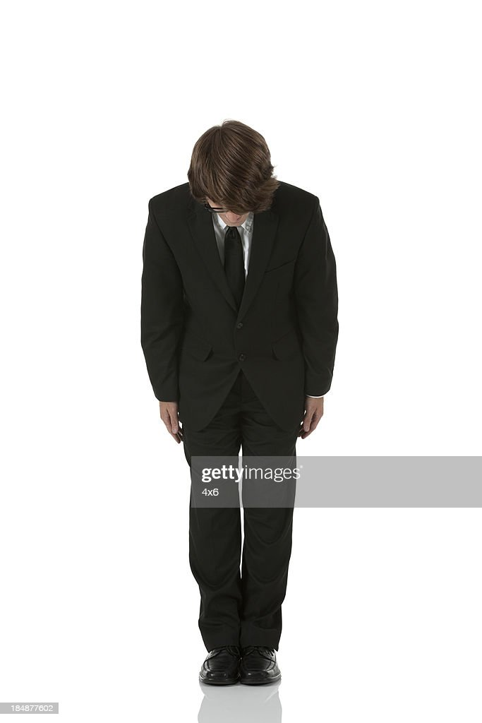 Businessman bowing