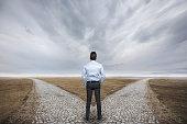 Businessman choosing destination.