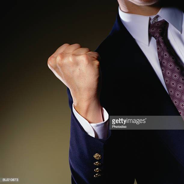 Businessman Clenching his Fist
