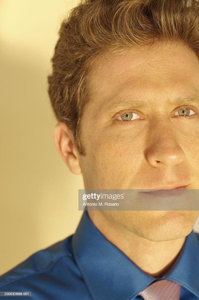 Businessman, close-up, portrait : Stock Photo