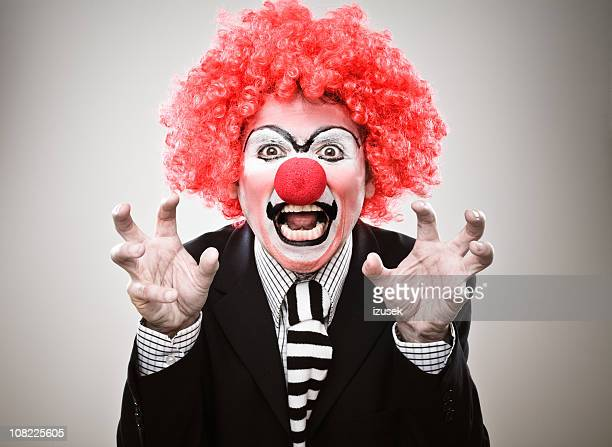 Businessman Clown Growling