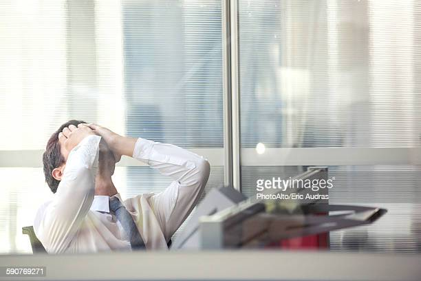 Businessman disappointed