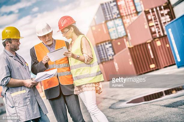 Businessman, Dock worker and inspector