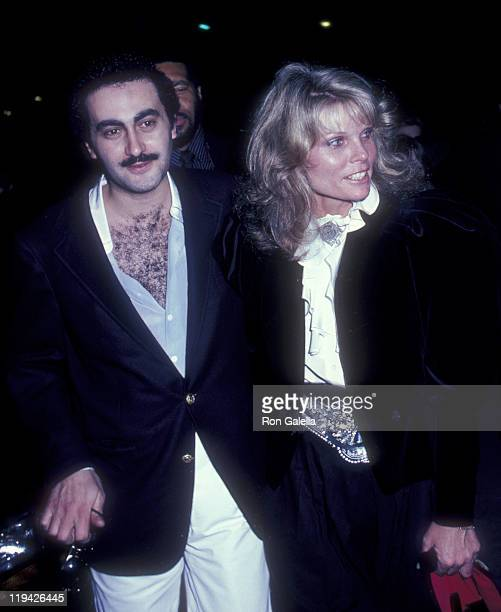 Businessman Dodi AlFayed and actress Cathy Lee Crosby attend the premiere party for 'Chariots Of Fire' on April 8 1982 at the Bistro in Beverly Hills...