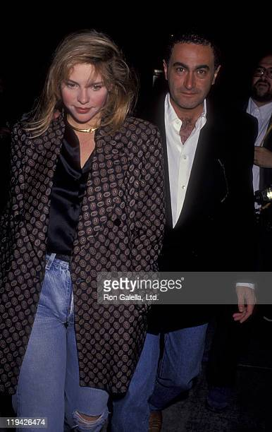 Businessman Dodi AlFayed and Tracy Lynn sighted on April 22 1991 at Spago Restaurant in West Hollywood California