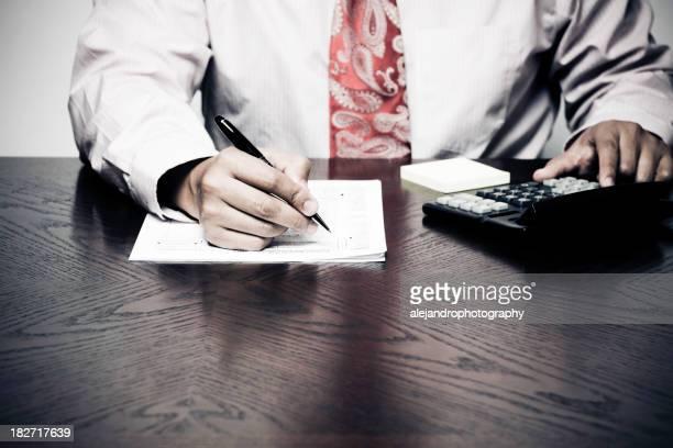 Geschäftsmann, die Papierkram