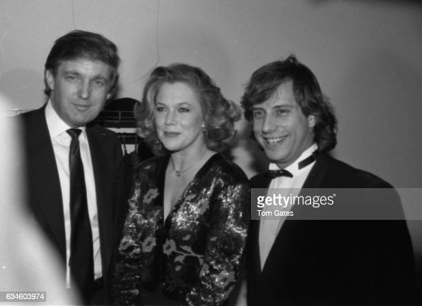 Businessman Donald Trump actress Kathleen Turner and her husband Jay Weiss attend the DW Girffith Awards At Lincoln Center Library in February 1988...