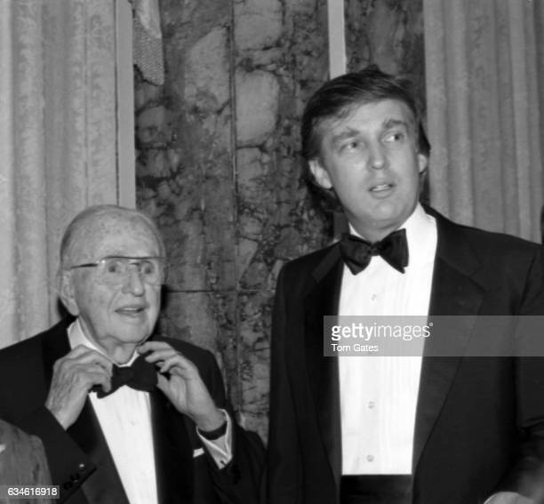 Businessman Donald Trump and Dr Norman Vincent Peale attend the 90th birrthday celebration of Dr Norman Vincent Peale author of the book 'The Power...