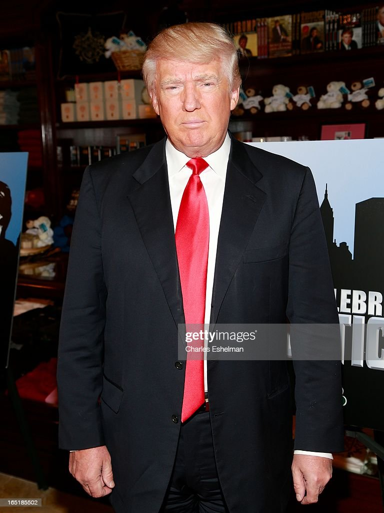 Businessman Donald Trump attends the 'All-Star Celebrity Apprentice' Red Carpet Event at Trump Tower on April 1, 2013 in New York City.