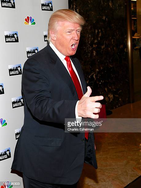Businessman Donald Trump attends the 'AllStar Celebrity Apprentice' Red Carpet Event at Trump Tower on April 1 2013 in New York City