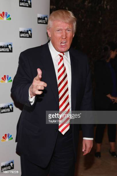 Businessman Donald Trump attends the 'AllStar Celebrity Apprentice' Red Carpet Event at Trump Tower on April 16 2013 in New York City