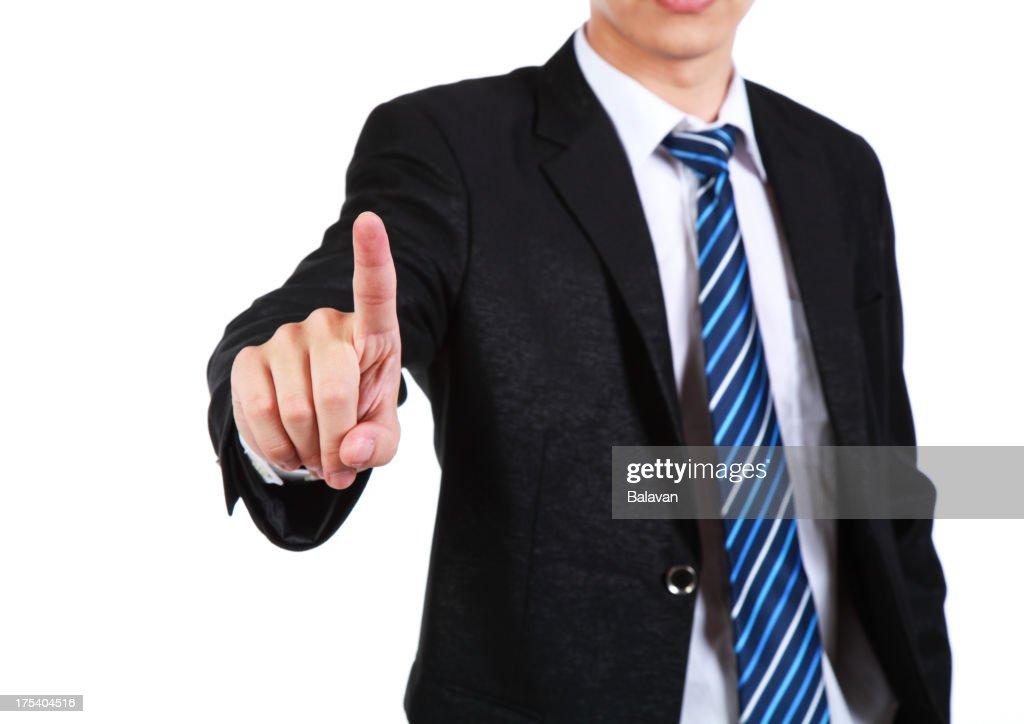 businessman drawing empty diagram-XXL