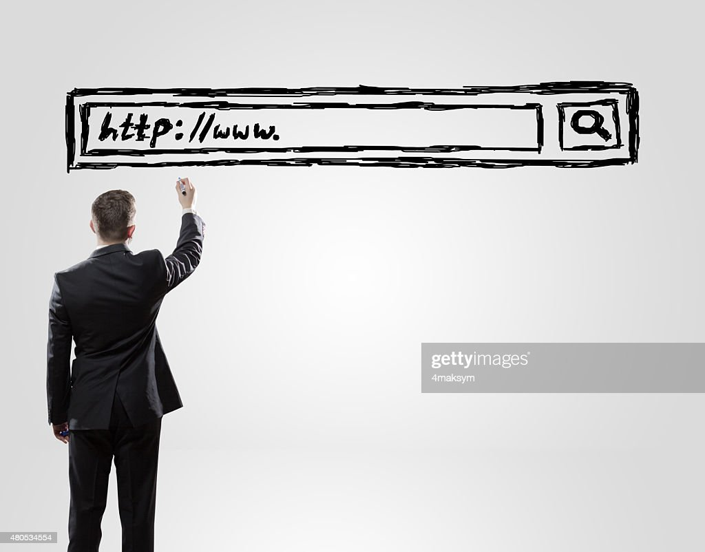 businessman drawing : Stock Photo