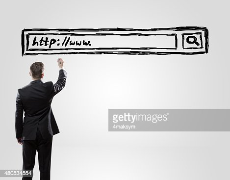 businessman drawing : Stock Photo
