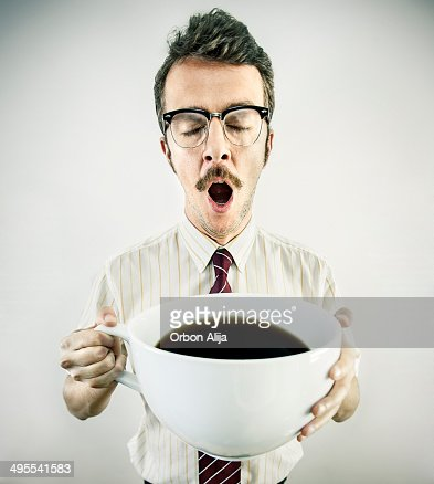 Businessman drinking cofffe