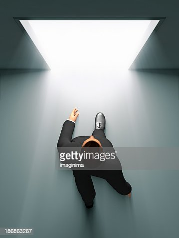 Businessman Entering The Door