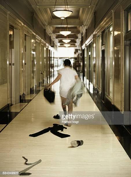 Businessman Escaping Corporate Job