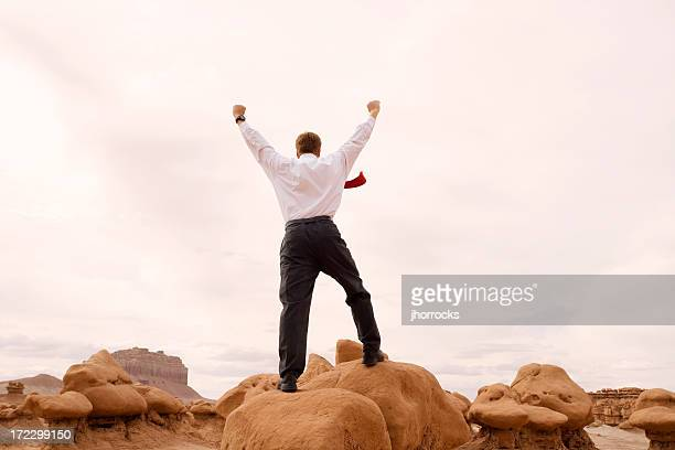 Businessman Expressing Victory