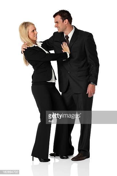 Empresário Namorar com uma mulher de Negócios