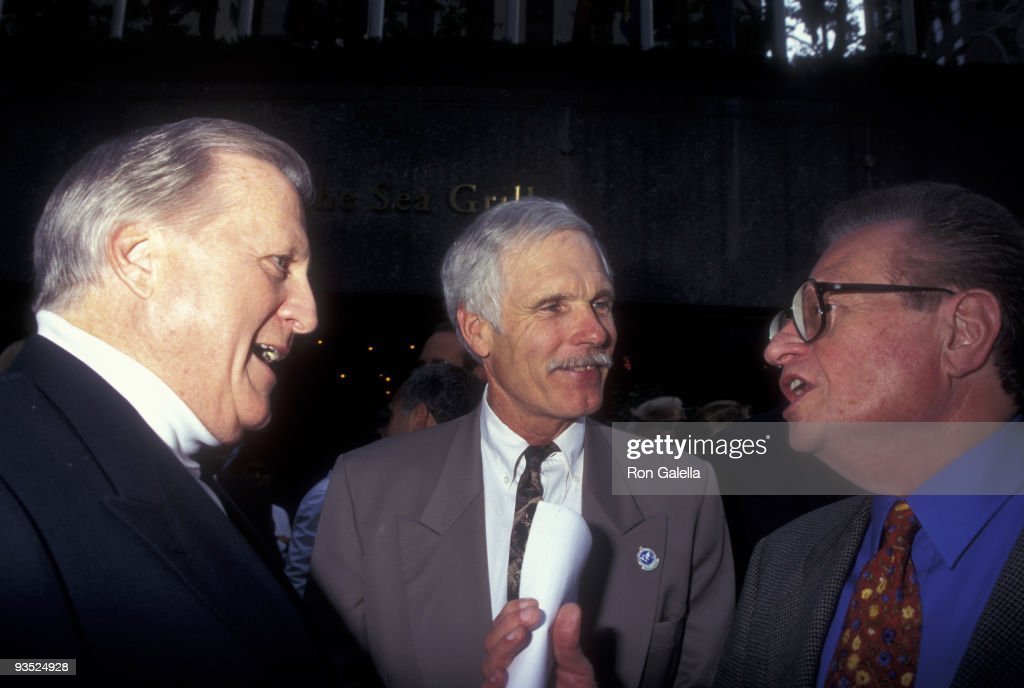 Businessman <a gi-track='captionPersonalityLinkClicked' href=/galleries/search?phrase=George+Steinbrenner&family=editorial&specificpeople=220576 ng-click='$event.stopPropagation()'>George Steinbrenner</a>, <a gi-track='captionPersonalityLinkClicked' href=/galleries/search?phrase=Ted+Turner+-+Businessman&family=editorial&specificpeople=203000 ng-click='$event.stopPropagation()'>Ted Turner</a> and television personality <a gi-track='captionPersonalityLinkClicked' href=/galleries/search?phrase=Larry+King&family=editorial&specificpeople=202014 ng-click='$event.stopPropagation()'>Larry King</a> attend Summer Goodwill Games on July 17, 1997 at Rockefeller Plaza in New York City.