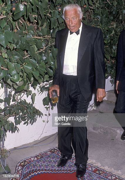 Businessman Gianni Agnelli attends Malcolm Forbes' 70th Birthday Celebration on August 19 1989 at Palais Mendoub in Tangier Morocco
