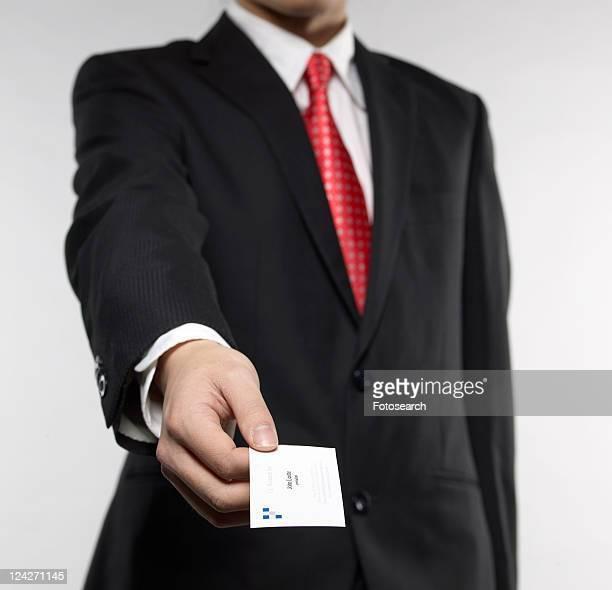 Businessman Giving Businesscard