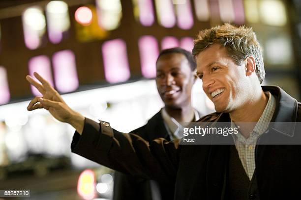 Businessman Hailing a Cab