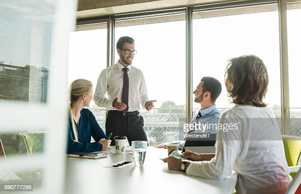 Businessman having a presentation in conference room