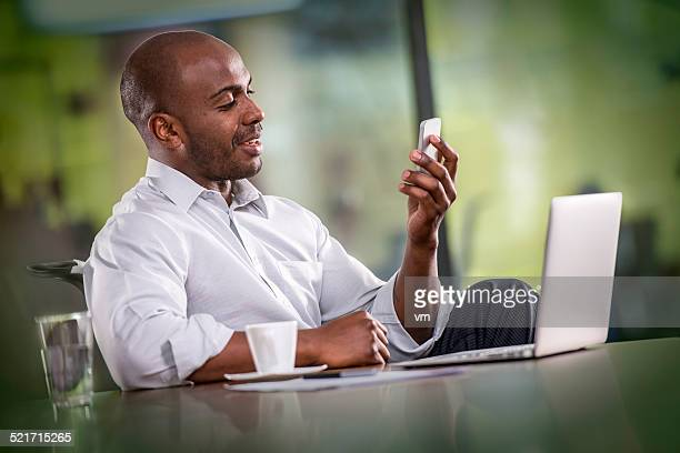 Businessman Having a Video Call