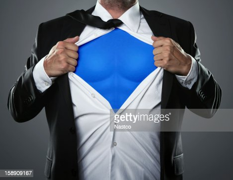 Businessman hero : Stock Photo