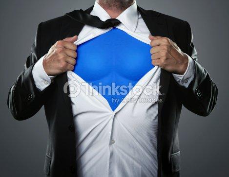 Businessman hero : Stock Photo