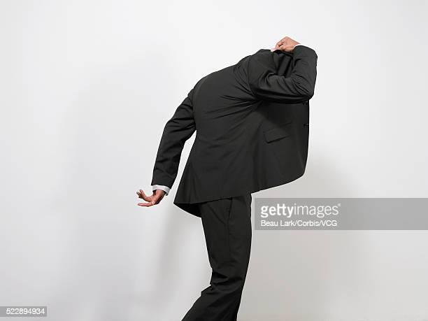 Businessman hiding