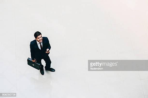 Businessman High Angle View