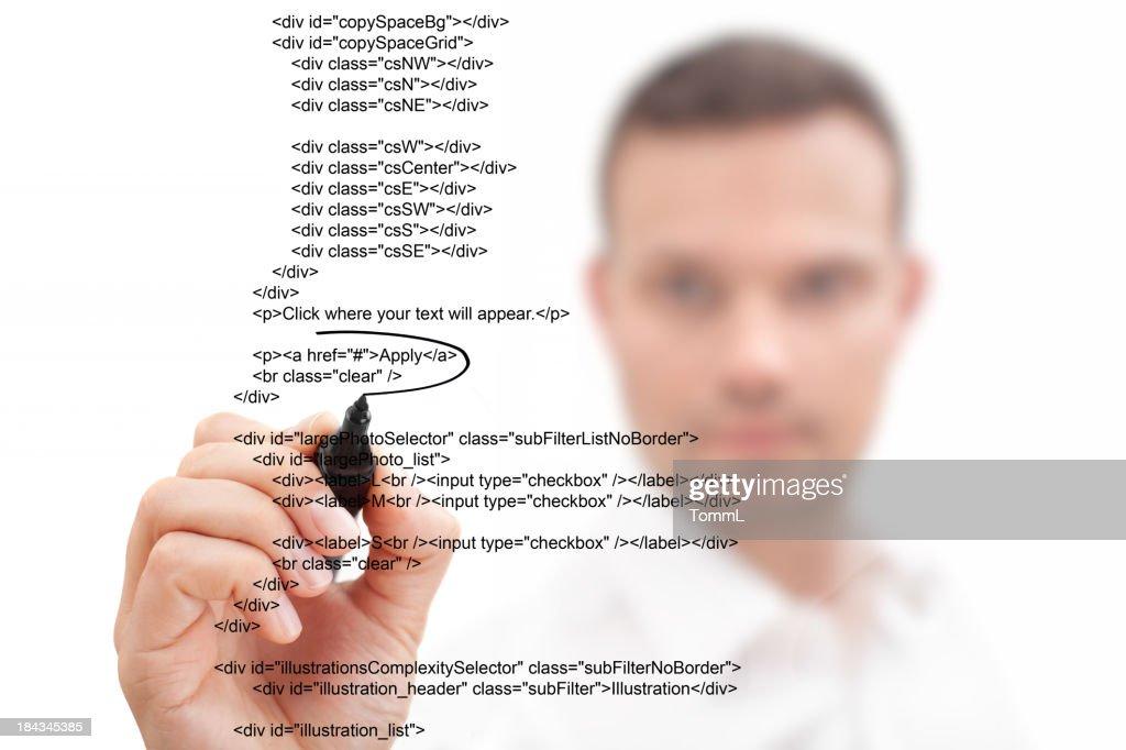 Businessman Highlighting Script