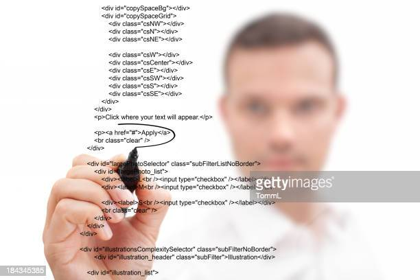 Businessman Highlighting Script