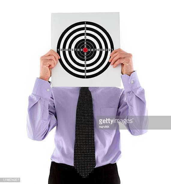 Businessman Holding a Target