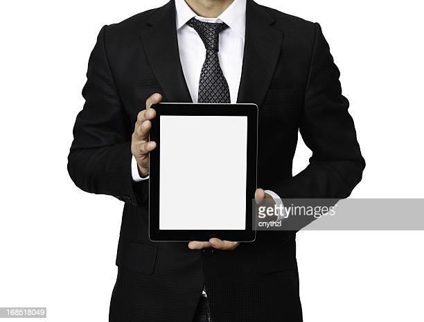 Uomo d'affari tenendo il Tablet PC