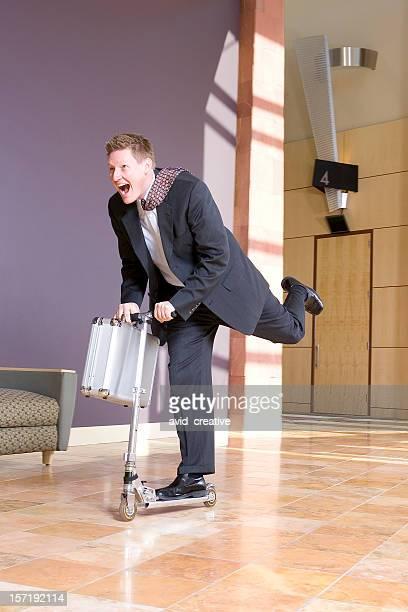 Homme d'affaires dépêcher de réunion