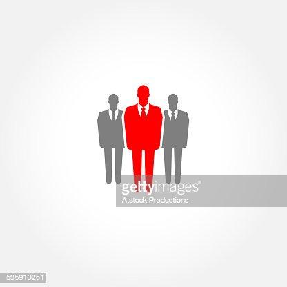 Businessman icon - leader concept : Stock Photo