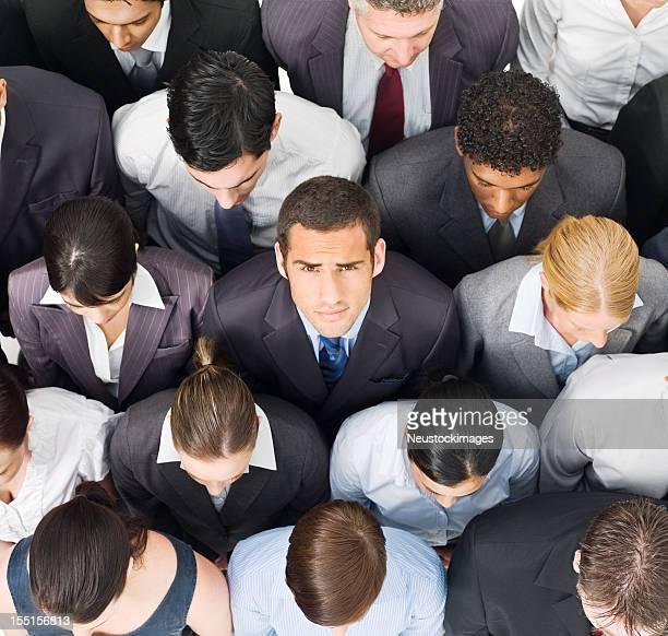 Businessman in a Crowd