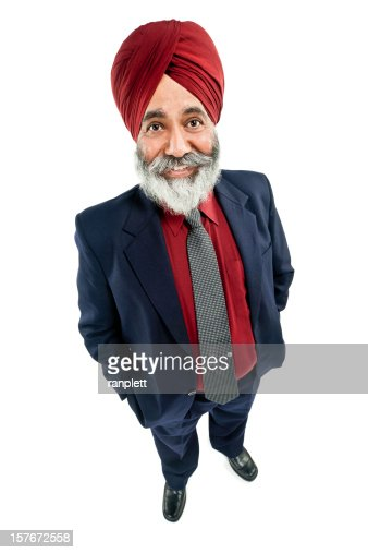 Businessman in a Turban - Isolated