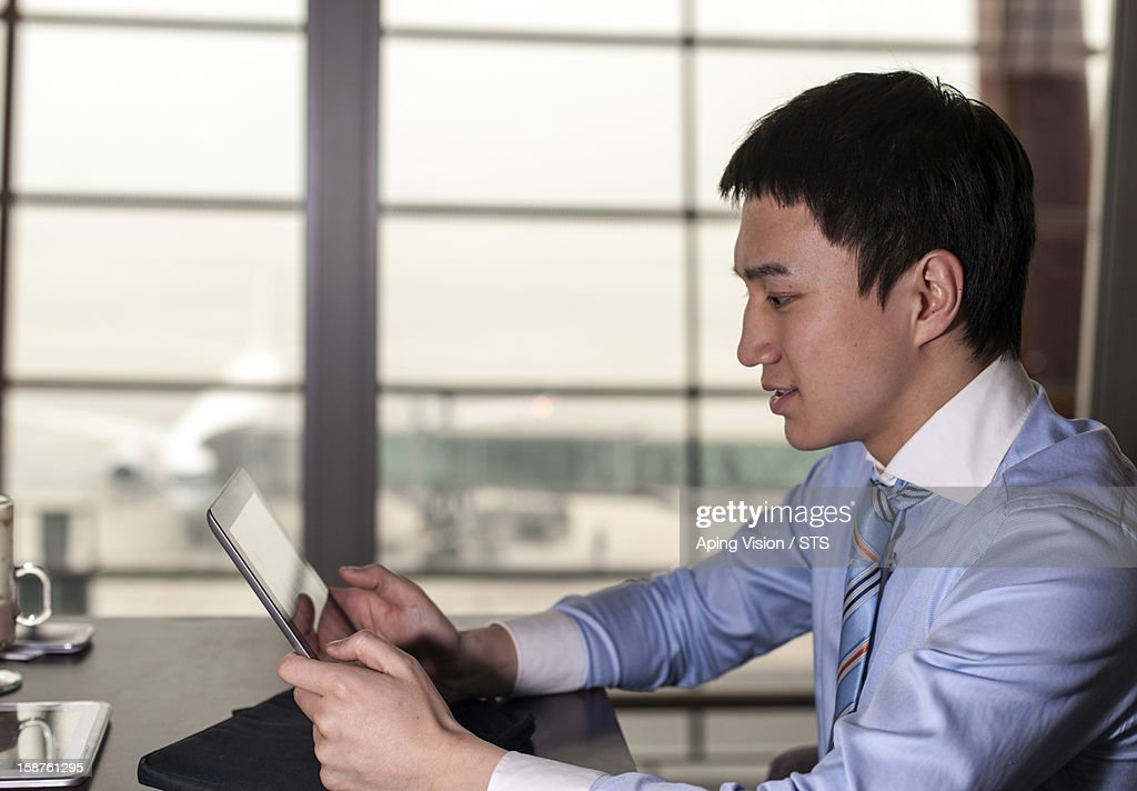 businessman in airport : Stock Photo