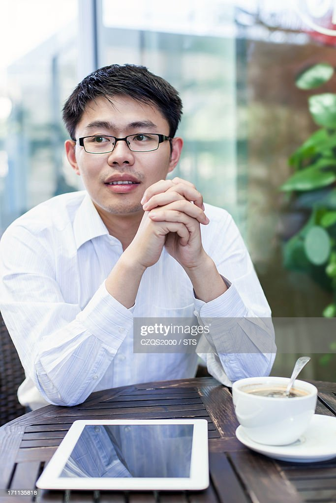 businessman in cafe : Stock Photo