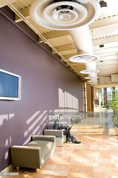 Businessman in Commercial Office Space