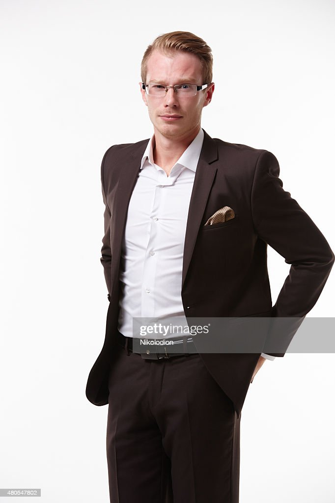 businessman in glasses with smiling : Stock Photo