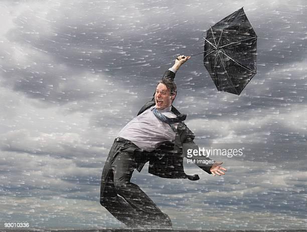 Businessman in Hurricane
